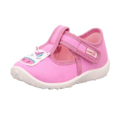Superfit rózsaszín, unikornisos vászoncipő