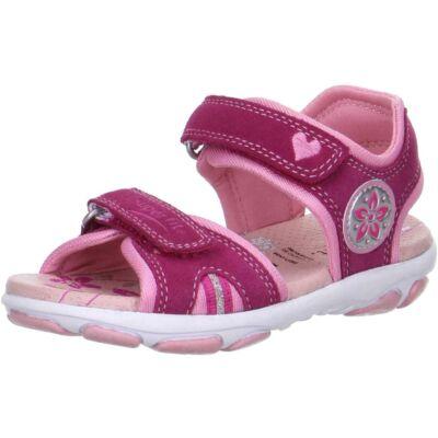 Superfit ciklámen-rózsaszín, virágos-szívecskés szandál