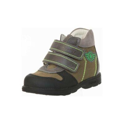 AKCIÓS 28-as! Szamos Kölyök keki-szürke, csillagos, szupinált őszi cipő