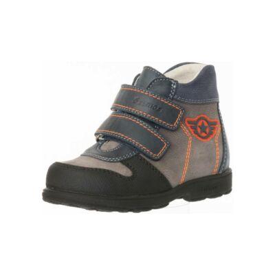 AKCIÓS 28-as! Szamos Kölyök kék-szürke-narancs, csillagos, szupinált őszi cipő