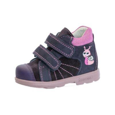 AKCIÓS 21-es! Szamos Kölyök sötétlila-pink, csigás, szupinált őszi cipő