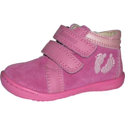 Szamos rózsaszín-ciklámen első lépés cipő