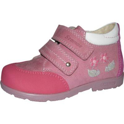 Szamos szupinált rózsaszín-ciklámen átmeneti cipő