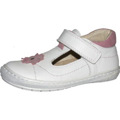 Szamos fehér-rózsaszín virágos szandálcipő