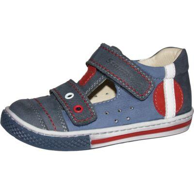 Szamos sötétkék-piros szandálcipő