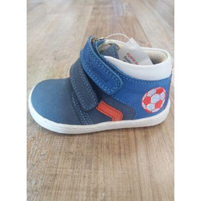 Szamos Kölyök kék, focilabdás, tépőzáras első lépés cipő
