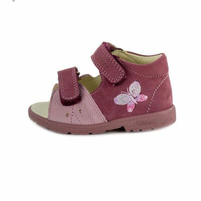 AKCIÓS 20-as! Szamos mályva-rózsaszín, pillangós szupinált szandál