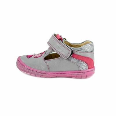 Szamos Kölyök szürke-rózsaszín, unikornisos szandálcipő