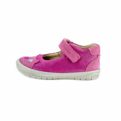 Szamos Kölyök csillámos pink, cicás szandálcipő
