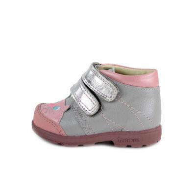 Szamos Kölyök ezüst-púder, cicás, szupinált tavaszi cipő