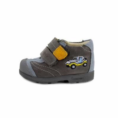 Szamos Kölyök szürke-világoskék-mustár, autós, szupinált tavaszi cipő
