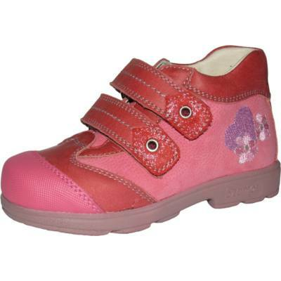 AKCIÓS 29-es! Szamos korall színű, szívecskés-virágos, szupinált átmeneti cipő