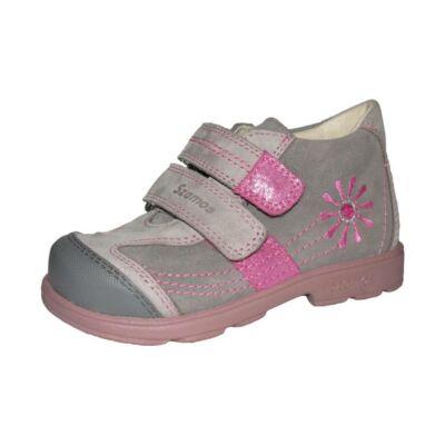 AKCIÓS 33-as! Szamos szürke-rózsaszín, virágos, szupinált tavaszi cipő