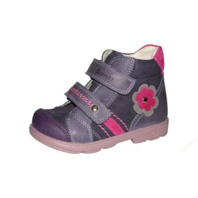 AKCIÓS 28-as! Szamos sötétlila-rózsaszín, virágos, szupinált átmeneti cipő