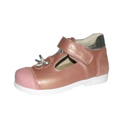 AKCIÓS 27-es! Szamos rózsaszín-ezüst, masnis szupinált szandálcipő