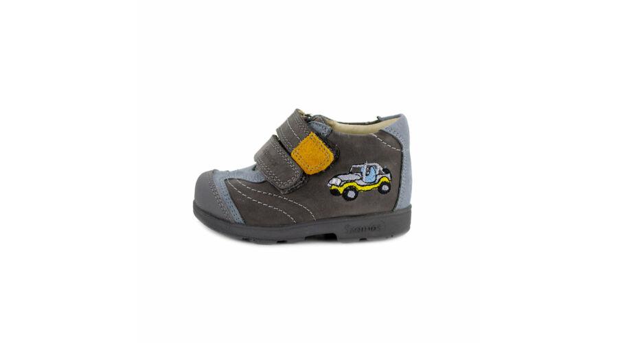 18a4cdd9cd Szamos Kölyök szürke-világoskék-mustár, autós, szupinált cipő