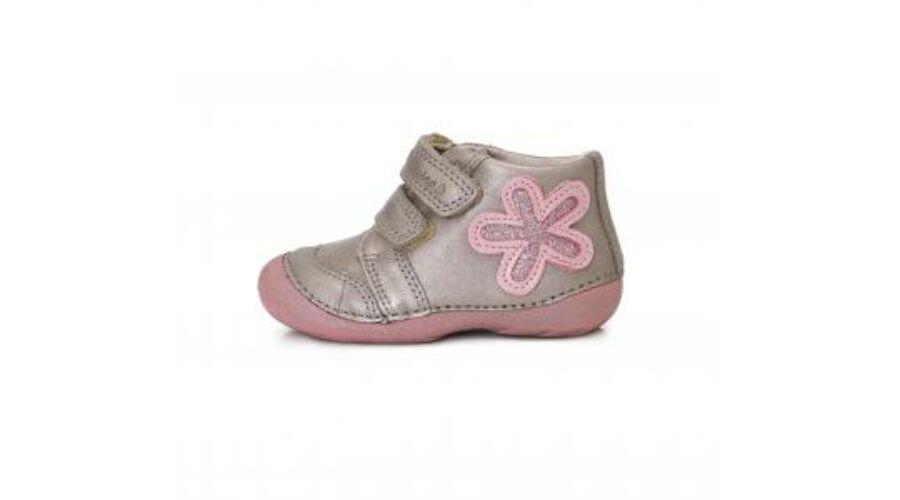 D.D.Step csillogós ezüst-púder virágos bőr átmeneti cipő - Cipők ... c293349a18
