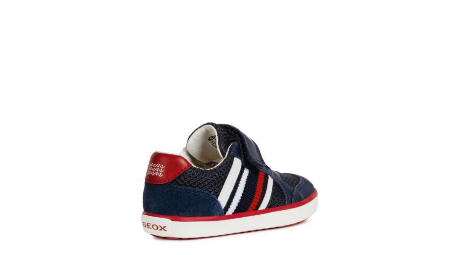 27282da57f GEOX sötétkék-piros-fehér, gumifűzős + tépőzáras tavaszi cipő ...