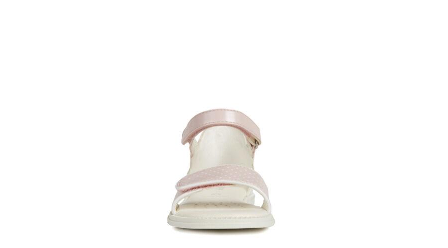 5ef3389da7ce GEOX fehér-rózsaszín, pöttyös, margarétás, tépőzáras lélegző szandál