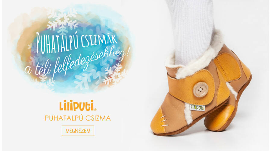 15f3e8b229de Liliputi puhatalpú csizma narancs-krém - Cipők - Trendi Kölyök ...