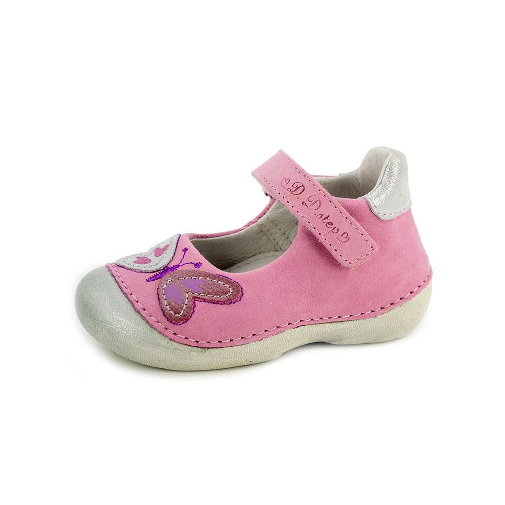 2bcf68b2091b D.D.Step rózsaszín-krém pillangós bőr szandálcipő - Cipők - Trendi Kölyök  Gyerekcipő webáruház - Szekszárd