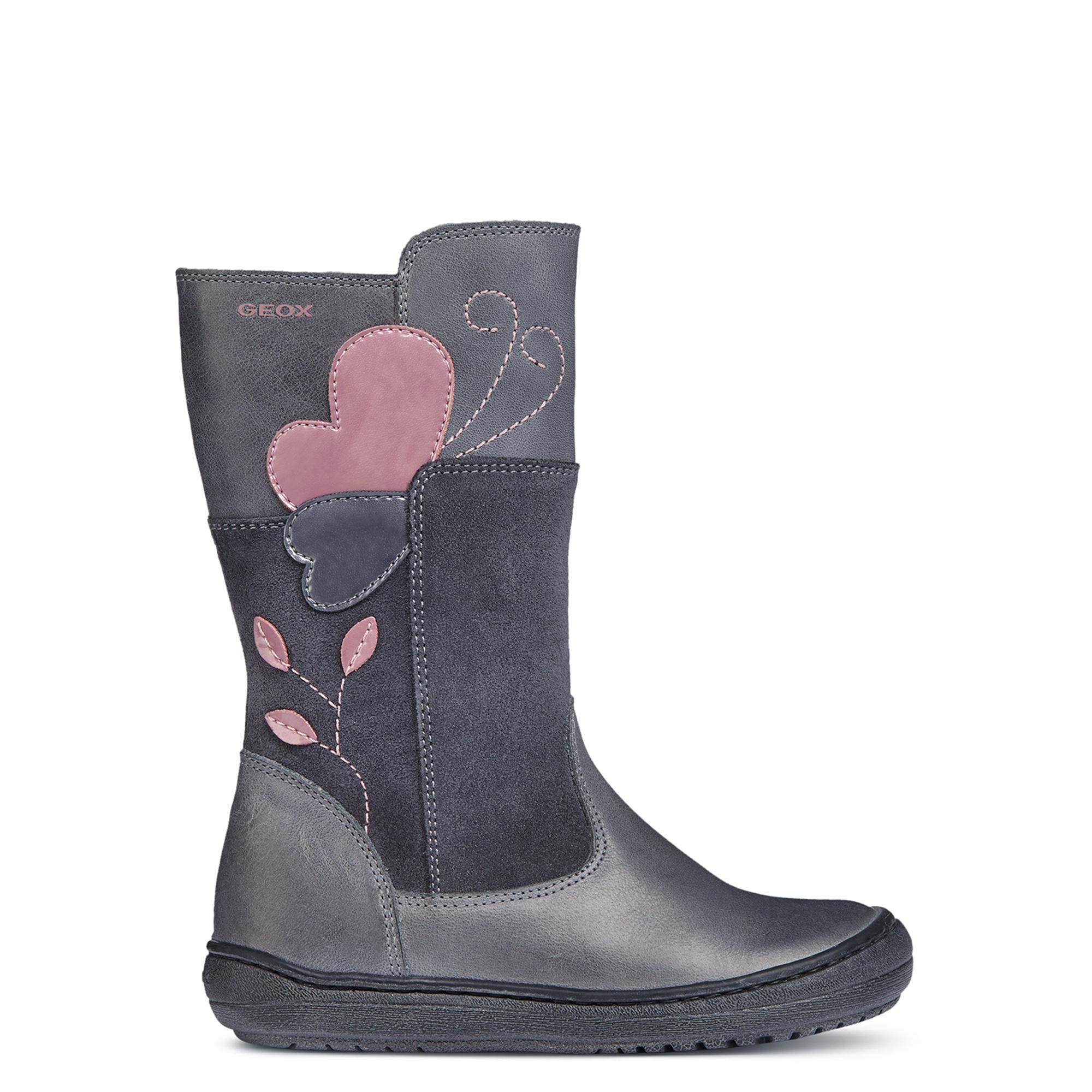 7168194cb1 GEOX szürke-rózsaszín, szívecskés, polárbélelt csizma - Cipők - Trendi  Kölyök Gyerekcipő webáruház - Szekszárd