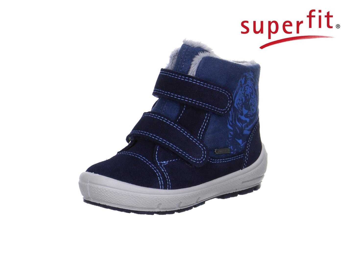 3caf5109db Superfit sötétkék-középkék, tigrises, bundás, vízálló bakancs - Cipők -  Trendi Kölyök Gyerekcipő webáruház - Szekszárd